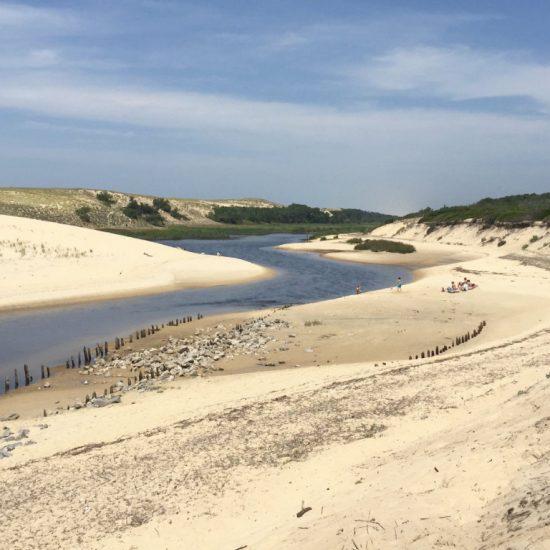Desembocadura del Courant d'Huchet