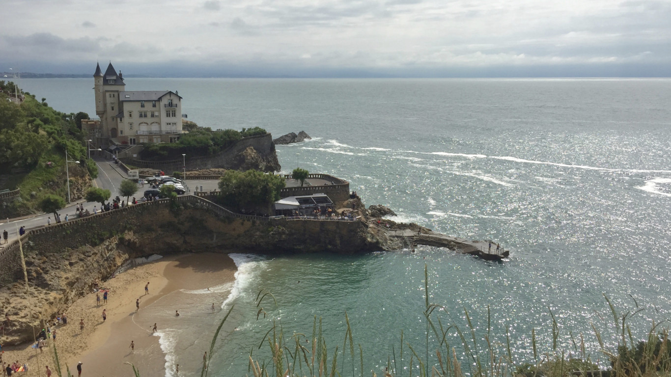 Biarritz beach and cliffs