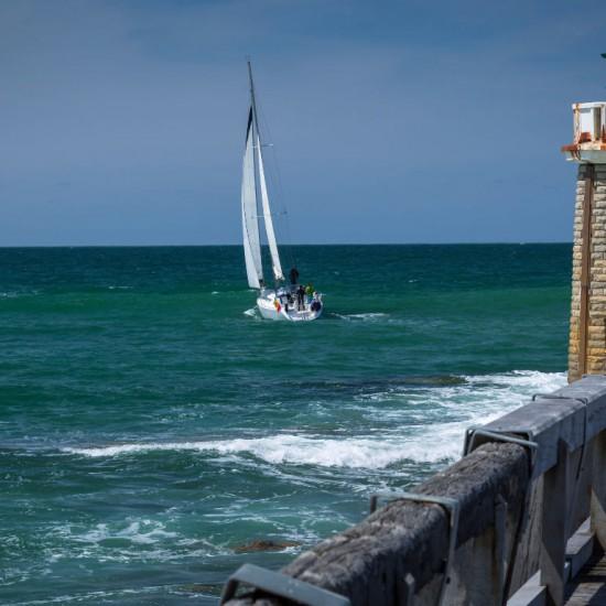 Sailing boat at Hossegor