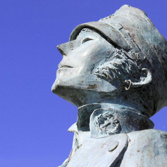 Statue at CIBDI, the Comic Strip Museum in Angoulême