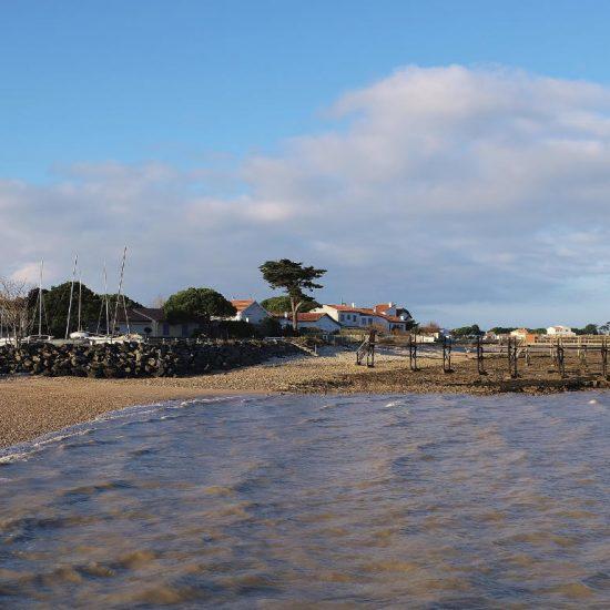 Beach of the seaside town Fouras