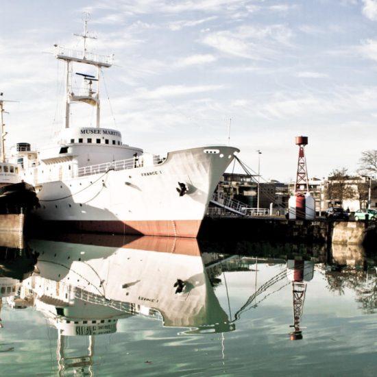 Meteorological frigate France 1 at Maritime Museum in La Rochelle