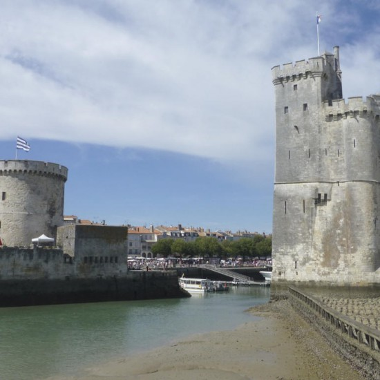 The towers Saint-Nicolas and La Chaîne in La Rochelle