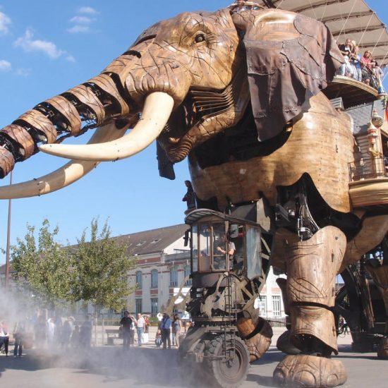The Grand Éléphant at Les Machines de l'île in Nantes