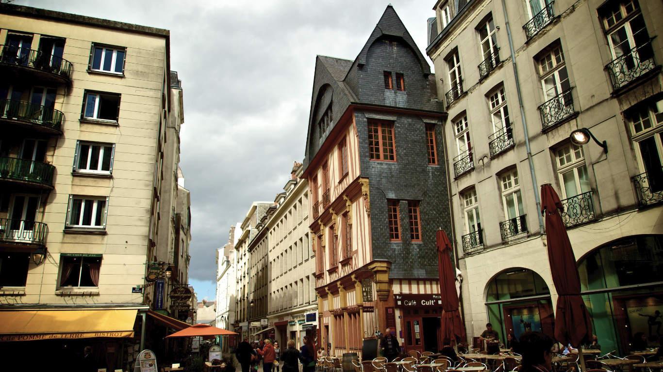 Town centre of Nantes