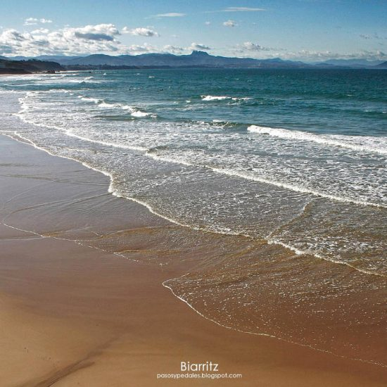 Atlantic coast in Biarritz