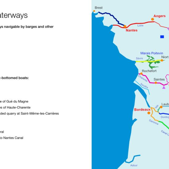 Infographic about inland waterways on French Atlantic Coast